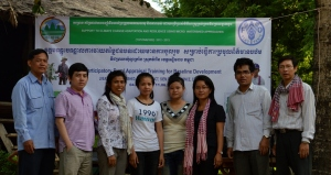 PRA study team in Kok Kandal Village