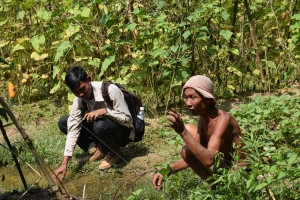 A vegetable farmer in Kampong Chamlong commune shared his experience in vegetable growing and drip irrigation system