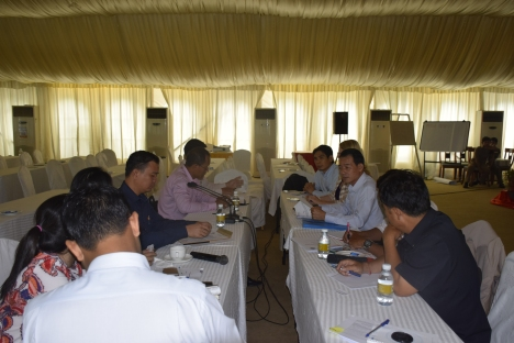 Project Coordination Committee Meeting at Himawari Hotel, Phnom Penh.
