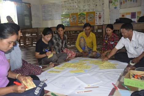 Discussion of women's group from O Tey village, Lvea Krang commune, Varin district of Siem Reap province