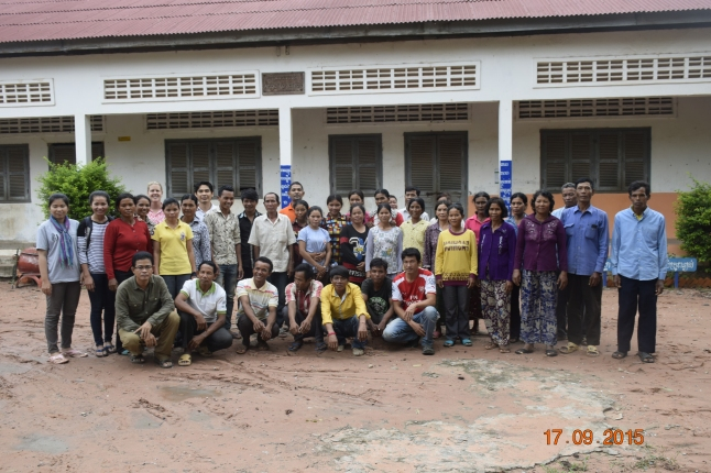 Participants of the VIA in Lvea Krang commune, Varin district, Siem Reap province