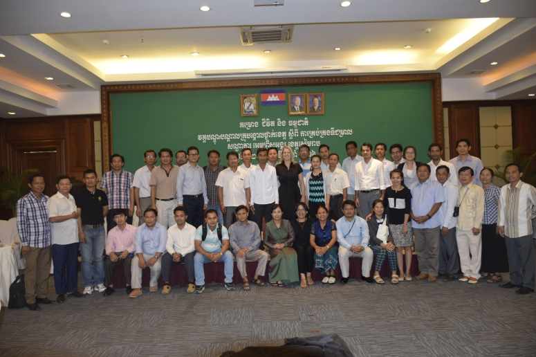 TOT training on watershed management in Siem Reap,