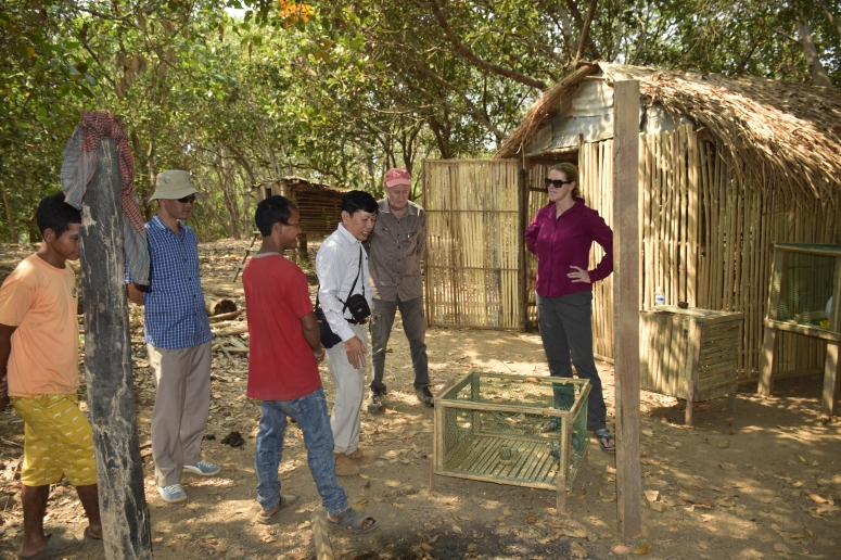 Indigenous farmer prepared chicken cage and chicken pen after trained by the PDA staff